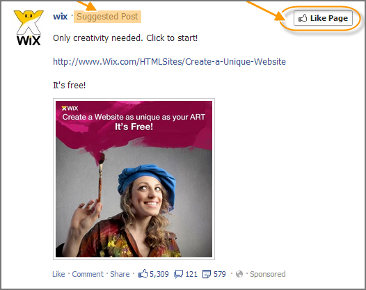 Suggested Posts at Facebook encourage engagement