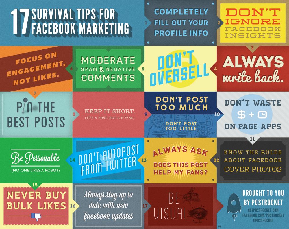 17 Survival Tips for Facebook Marketing