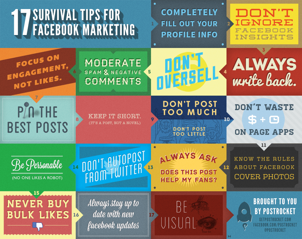 17 Survival Tips for Facebook Marketing